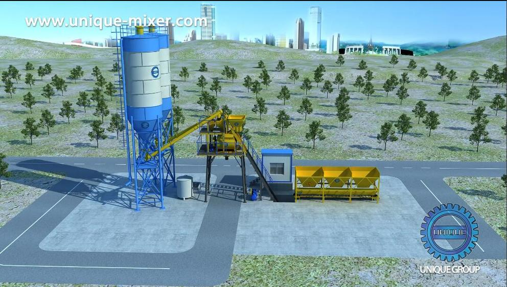 Unique Bucket Concrete Batching Plant