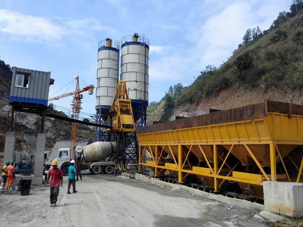 HZS75 Concrete Batching Plant in Sri Lanka