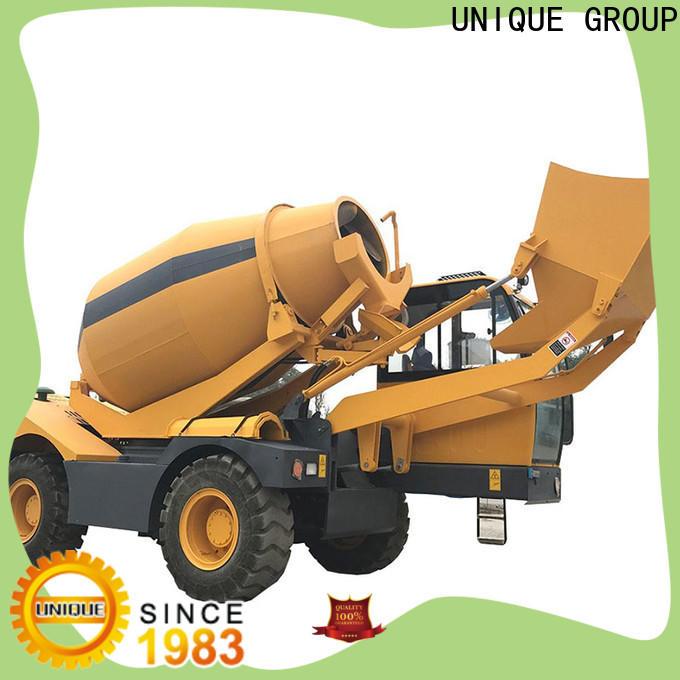 UNIQUE concrete batch truck metering for construction site