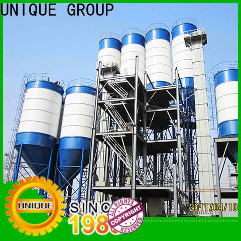 UNIQUE full computer control dry mix plant environmental protection for mortar