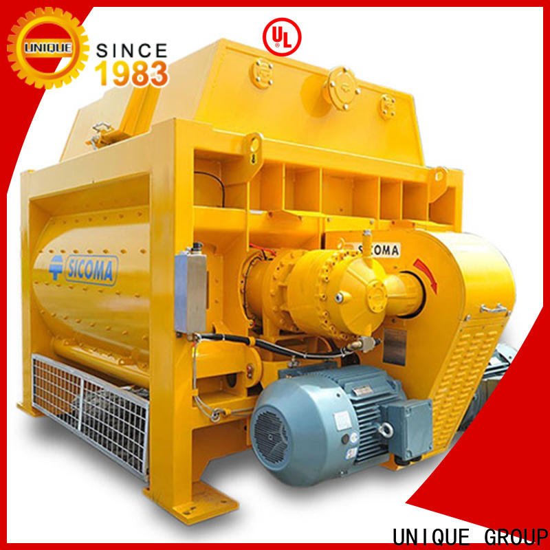 UNIQUE concrete mixing equipment with feeding system for project