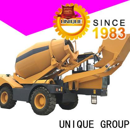 UNIQUE convenient cement mixer truck mixing to discharge for construction site