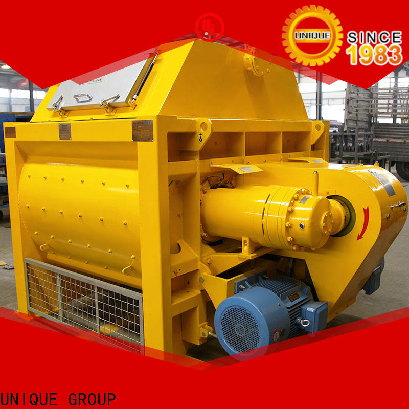 long lasting stationary concrete mixer with discharging system for project