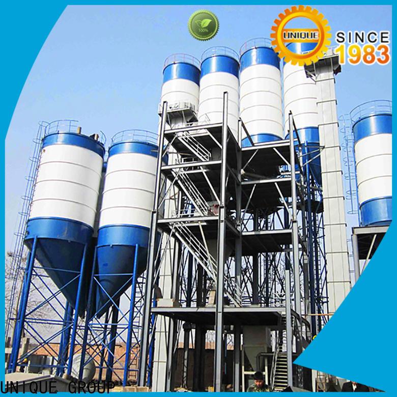 UNIQUE dry mix concrete plant simple process for plant
