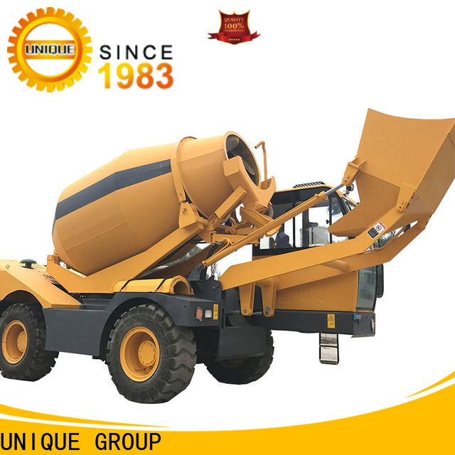 UNIQUE self loader concrete mixer mixing to discharge for concrete production