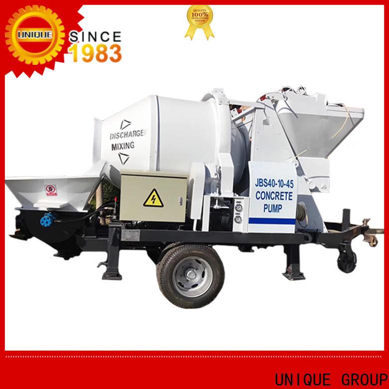 UNIQUE professional concrete pumping equipment manufacturer for roads