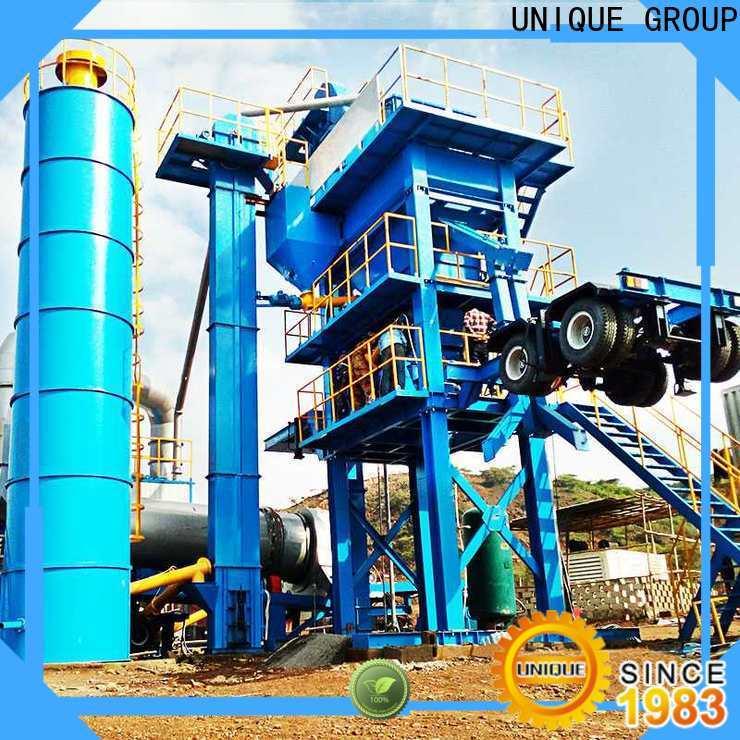 UNIQUE bitumen mix plant manufacturer