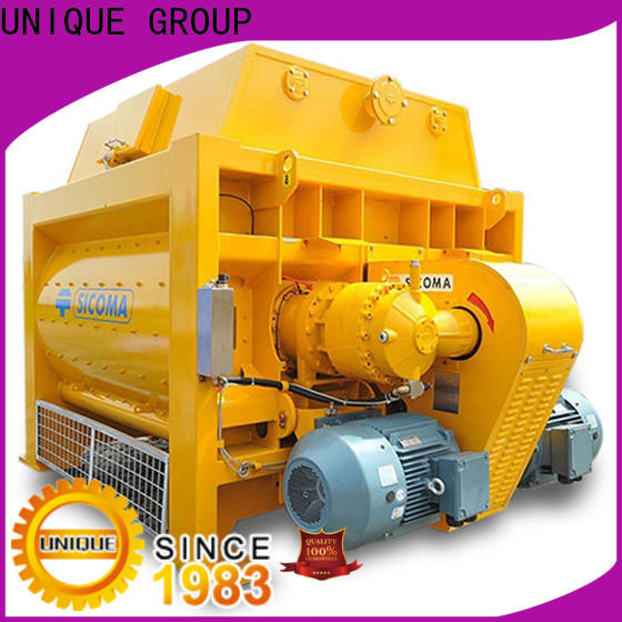 UNIQUE higher efficiency stationary concrete mixer with water supply system for hard-dry concrete