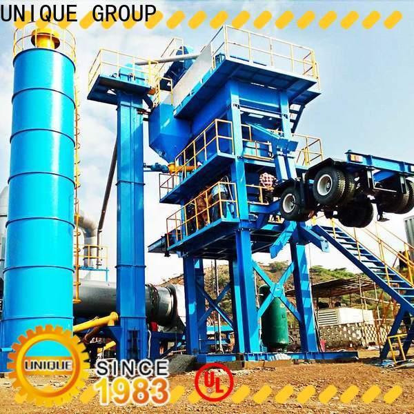 UNIQUE asphalt concrete mixing plant factory price for parking lot