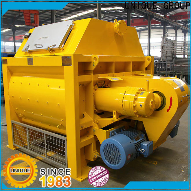 UNIQUE stronger stationary concrete mixer with feeding system for light aggregate concrete