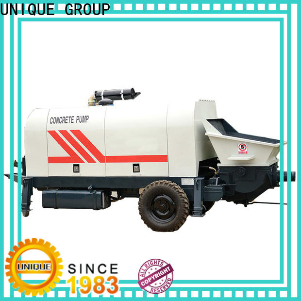 UNIQUE high quality concrete mixer pump supplier for water conservancy
