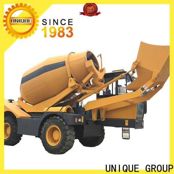 UNIQUE self loader concrete mixer automatic feeding