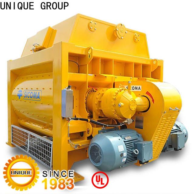 UNIQUE sicoma mixer with discharging system for light aggregate concrete