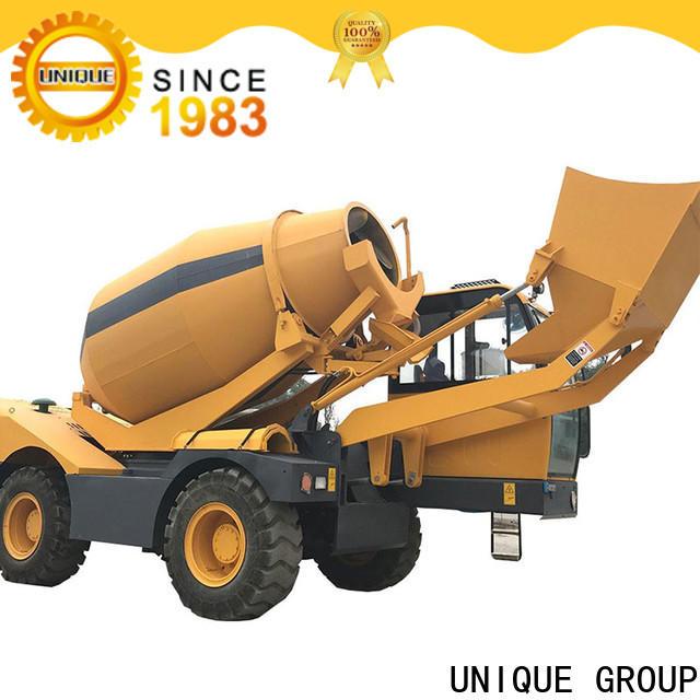 UNIQUE convenient self loading concrete mixer metering for construction site