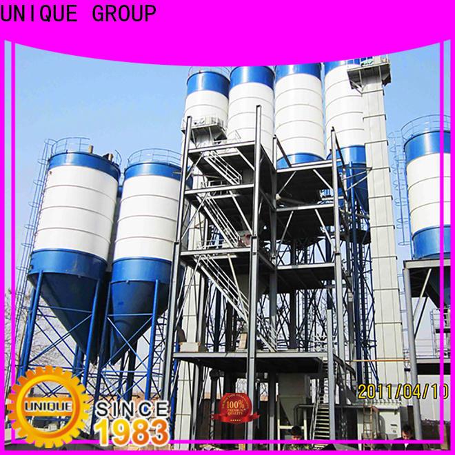 UNIQUE dry mix concrete plant simple process for plaster