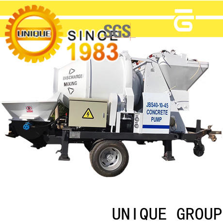 UNIQUE concrete trailer pump supplier for water conservancy
