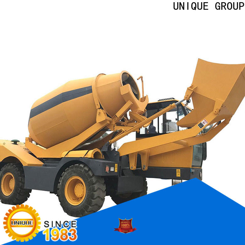 automatic concrete truck mixing to discharge for concrete production