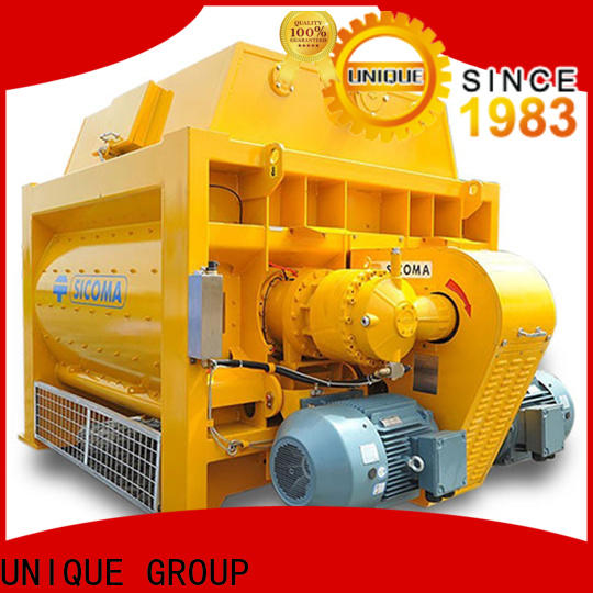 UNIQUE long lasting sicoma mixer with feeding system for concrete products