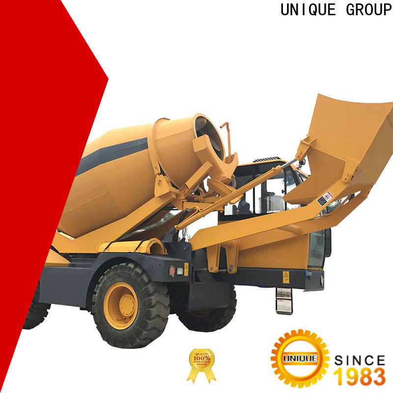 steering self loader concrete mixer cost-saving for project