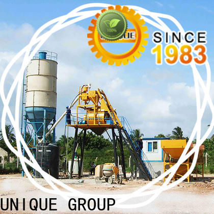 UNIQUE mobile concrete plant supplier for road