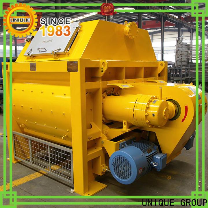 UNIQUE higher efficiency concrete batch mix plant with discharging system for hard-dry concrete