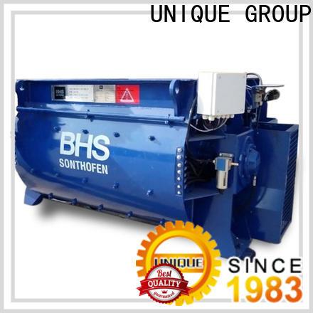 UNIQUE stationary concrete mixer supplier for light aggregate concrete
