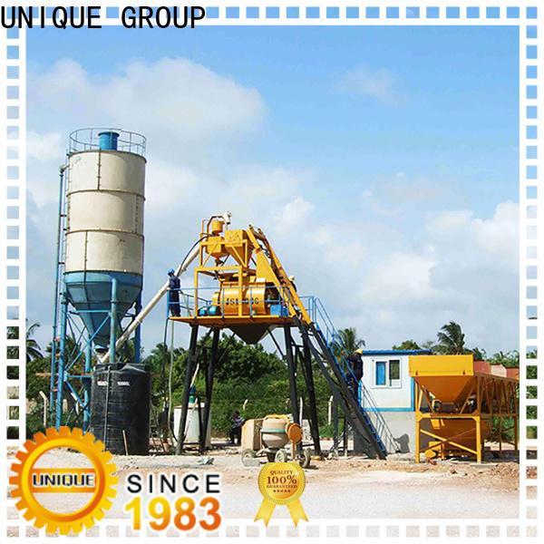 UNIQUE anti-interference mobile concrete plant promotion for sea port