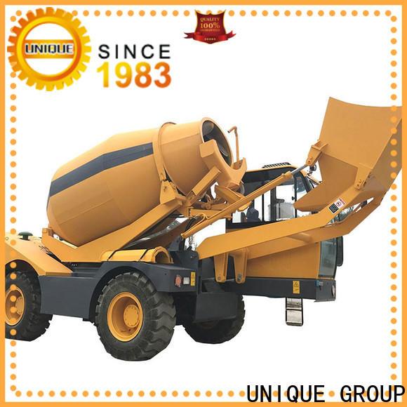 UNIQUE cement mixer truck mixing to discharge for concrete production