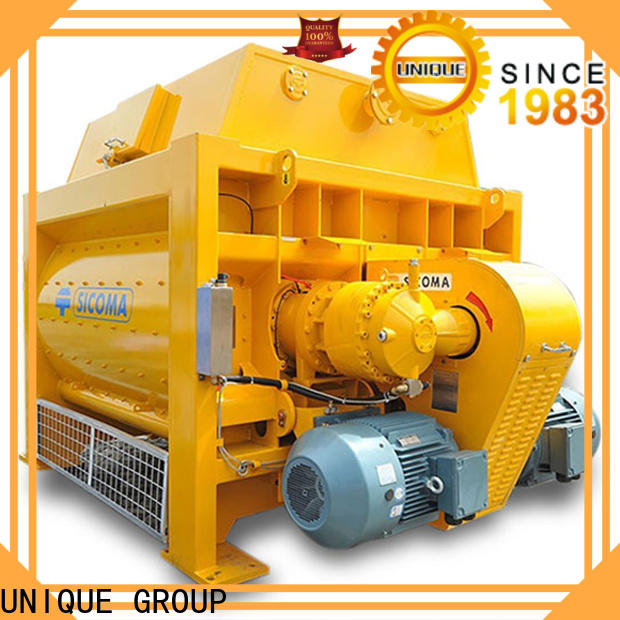 higher efficiency concrete mixing equipment with discharging system for project