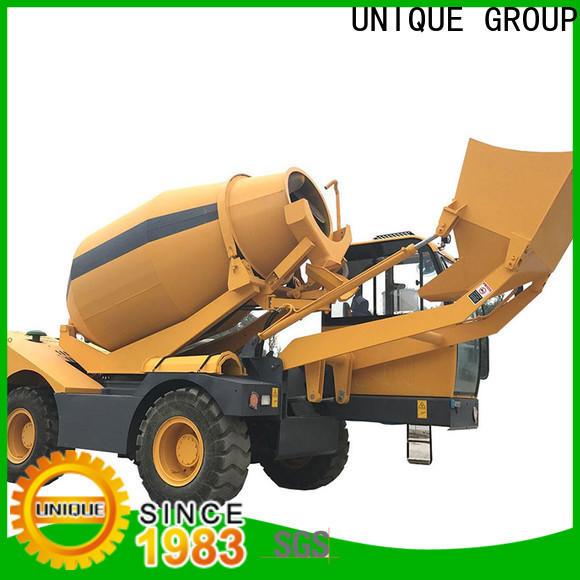 UNIQUE convenient concrete batch truck mixing to discharge for concrete production