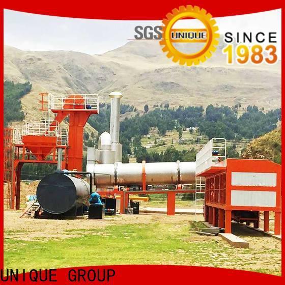 UNIQUE bitumen mix plant manufacturer for parking lot