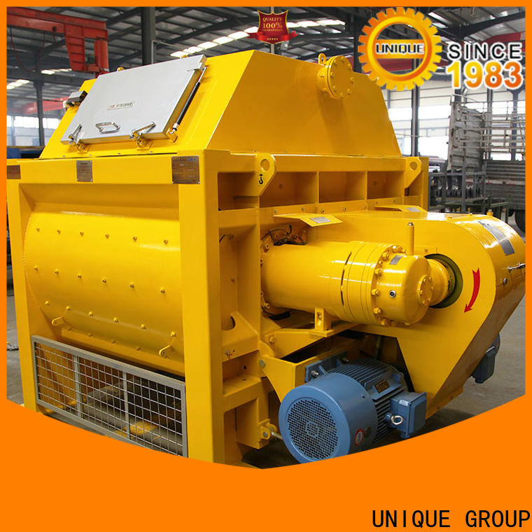 UNIQUE concrete mixing equipment with discharging system for concrete products