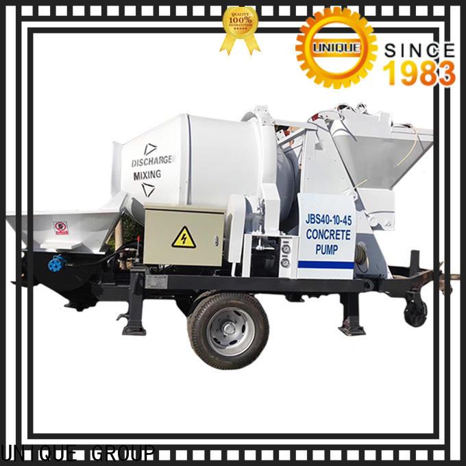 UNIQUE high quality concrete mixer pump manufacturer for roads