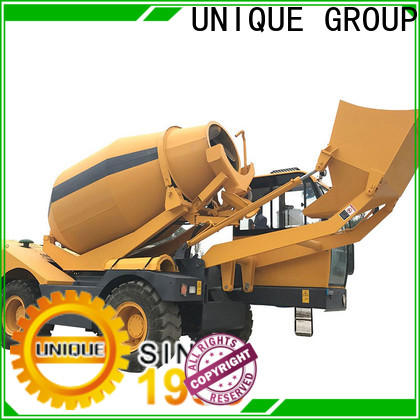 UNIQUE convenient self loader concrete mixer automatic feeding for concrete production
