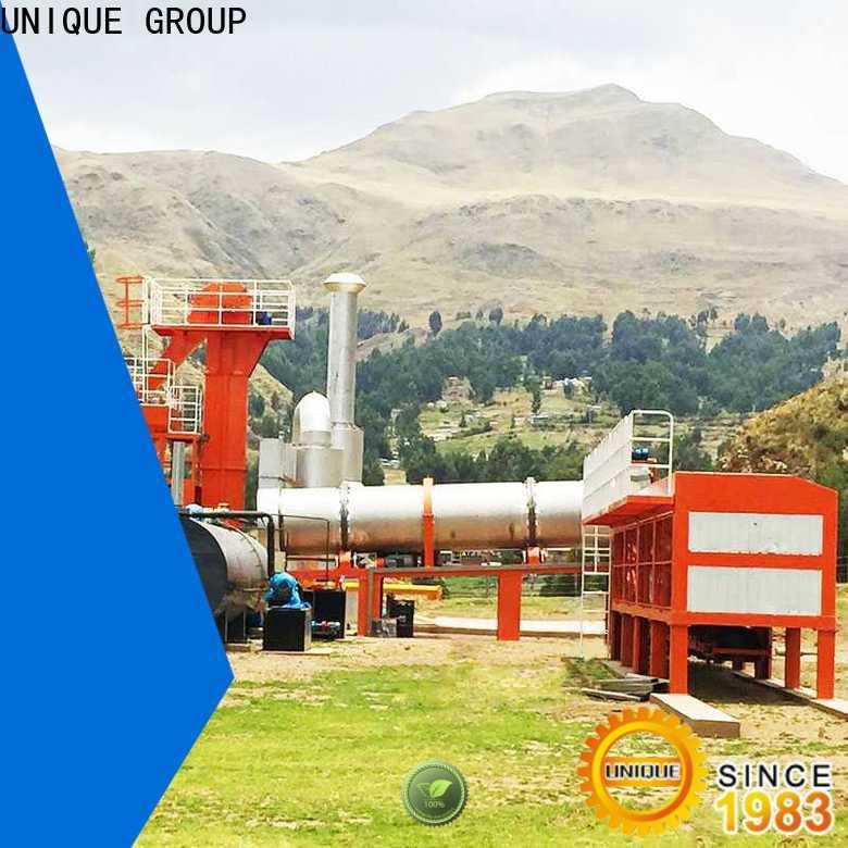 UNIQUE drum Asphalt Mixing Plant supplier for parking lot