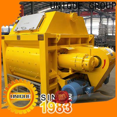 UNIQUE mobile concrete mixer with discharging system for concrete products