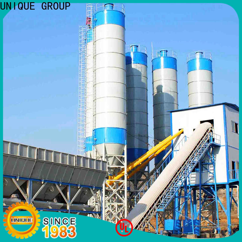 stable mobile batching plant supplier for sea port