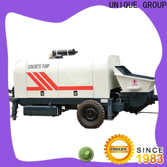 UNIQUE mature concrete pumping machine directly sale for roads