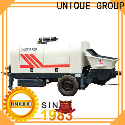 high quality concrete trailer pump supplier for railway tunnels