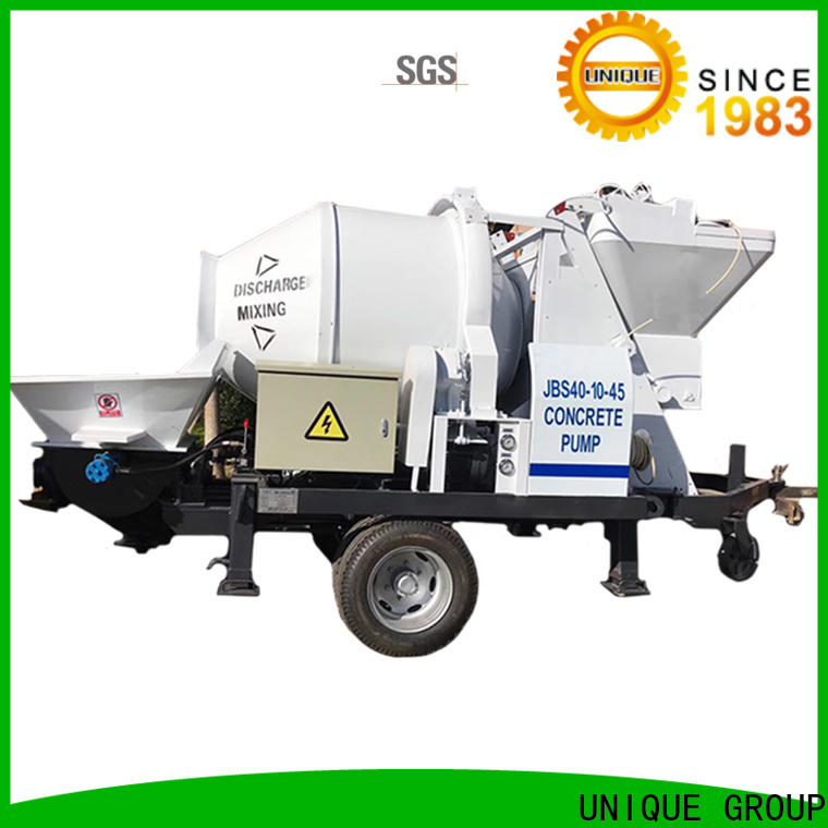 UNIQUE high quality concrete trailer pump online for railway tunnels