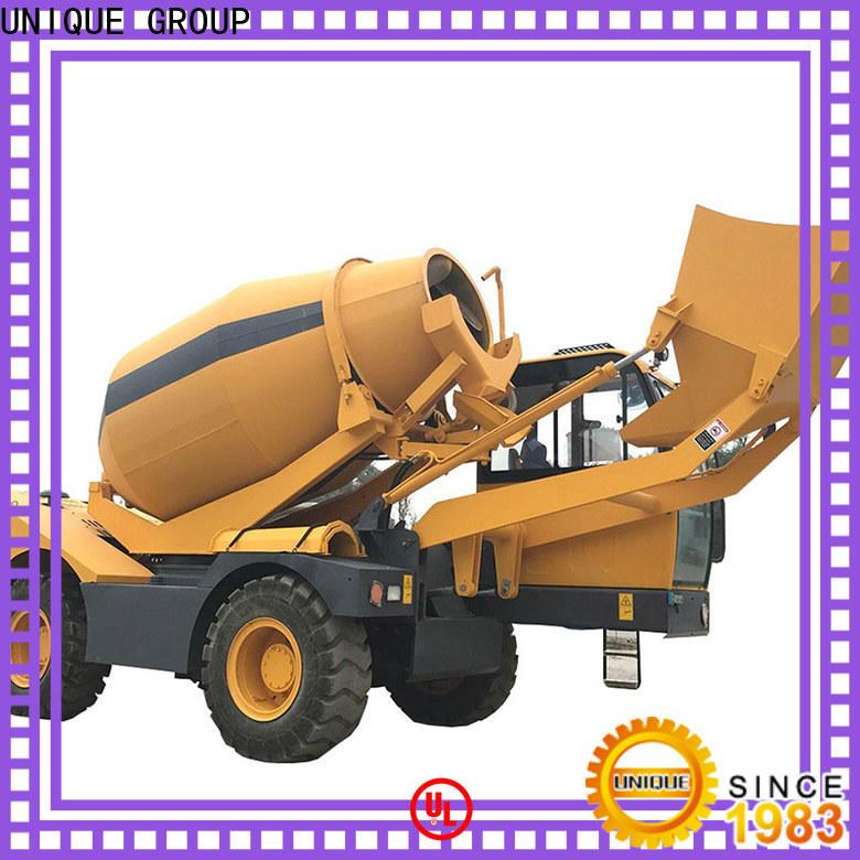 UNIQUE concrete mixer truck automatic feeding for construction site