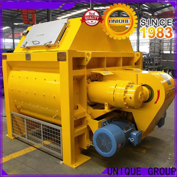 UNIQUE higher efficiency concrete batch mix plant with discharging system