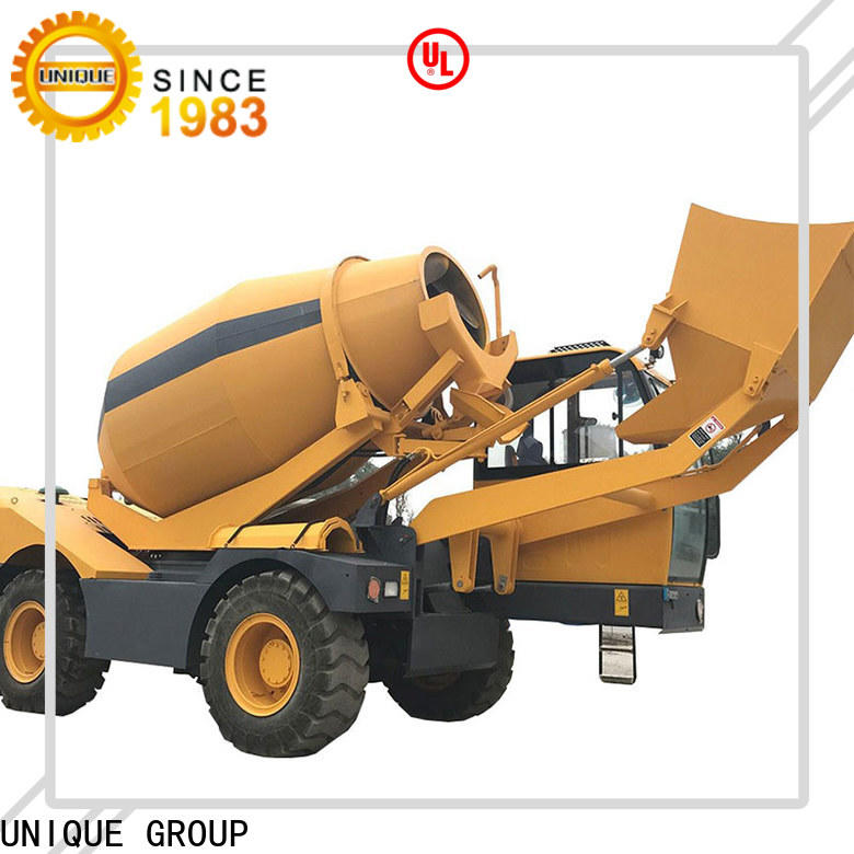 convenient self loading concrete mixer automatic feeding for project