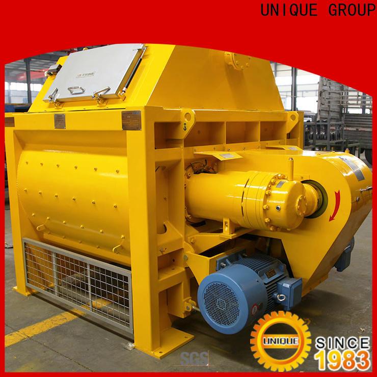 UNIQUE concrete mixer machine with discharging system for hard-dry concrete