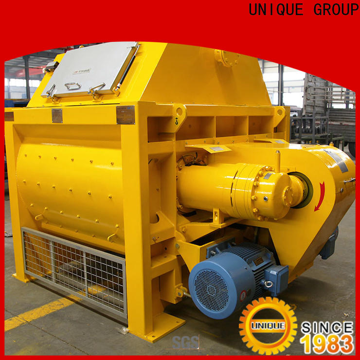 UNIQUE concrete mixer machine with discharging system for hard-dry concrete
