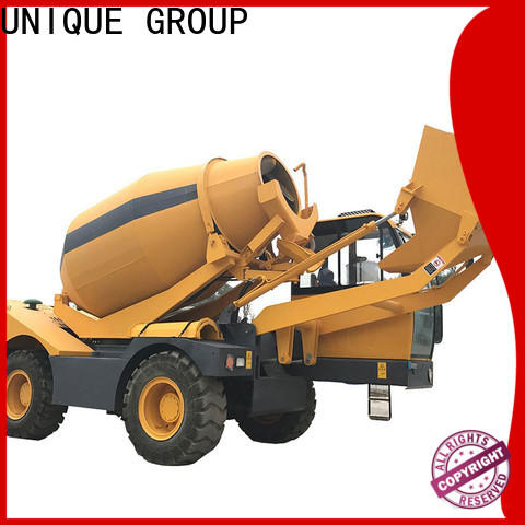 steering cement mixer truck mixing to discharge for construction site