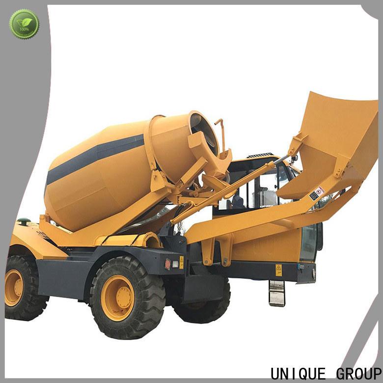 UNIQUE self loading concrete mixer metering for construction site
