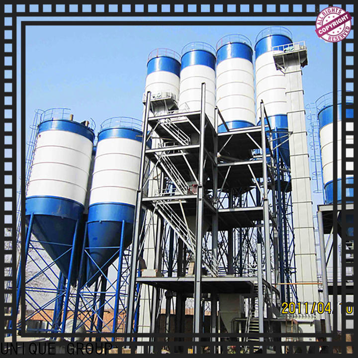 high degree of automation dry mix concrete plant energy-saving for project