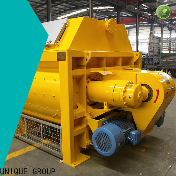 UNIQUE stationary concrete mixer with water supply system for hard-dry concrete