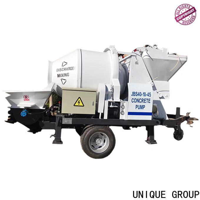 UNIQUE professional concrete mixer pump manufacturer for water conservancy